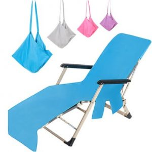beach lounge chair cover towel with pocket wholesale