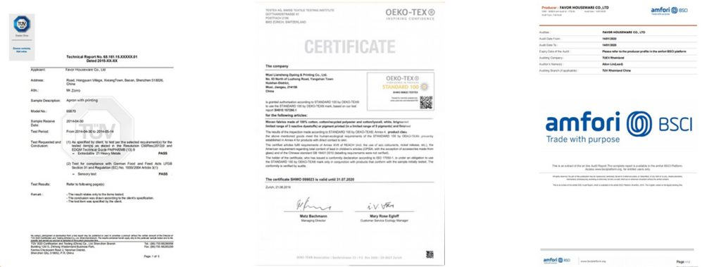 oeko tex,bsci china textile factory