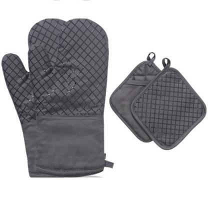good grips silicone oven mitt & pot holder set