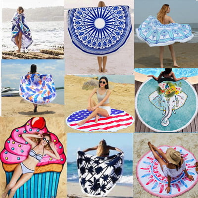 round beach towel wholesale